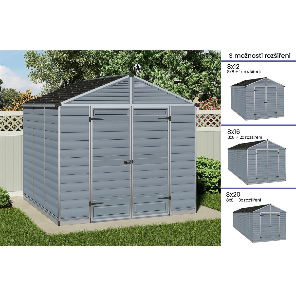 Palram Skylight 8x8 šedý, záhradný domček
