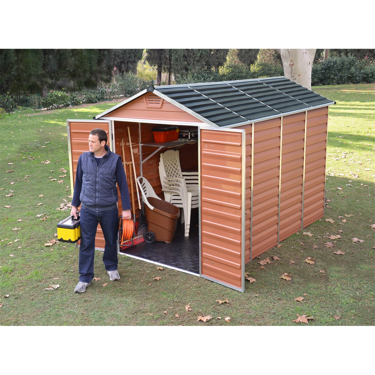 Palram Skylight 6x10 hnedý, záhradný domček