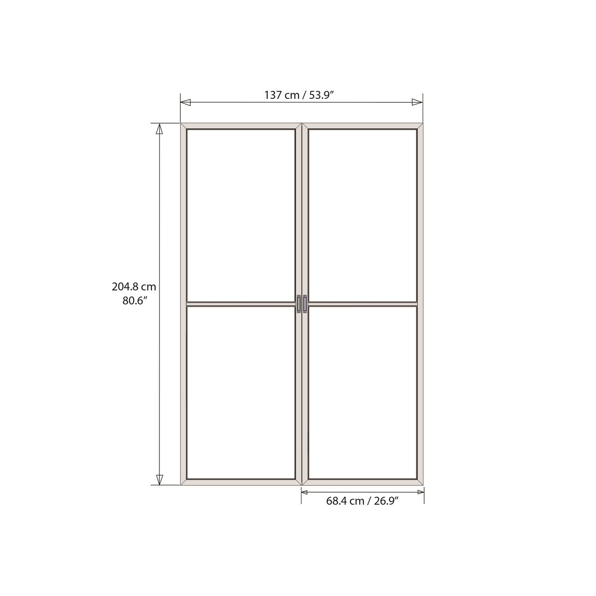 Palram Dveře s moskytiérou pro Torino 3 x 4,25 (šedé)