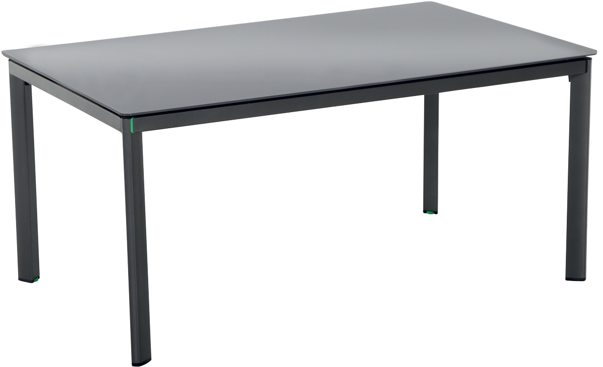 MWH Alutapo Creatop-Lite, stůl s hliníkovým rámem 160 x 95 x 74 cm