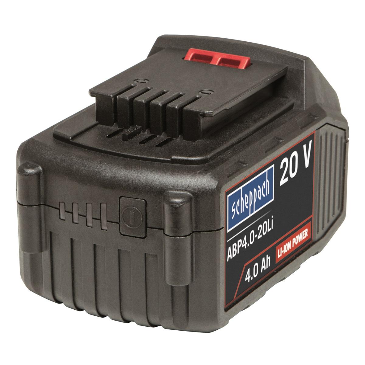 Scheppach ABP4.0-20Li, 20 V lithium iónová batérie 4 Ah