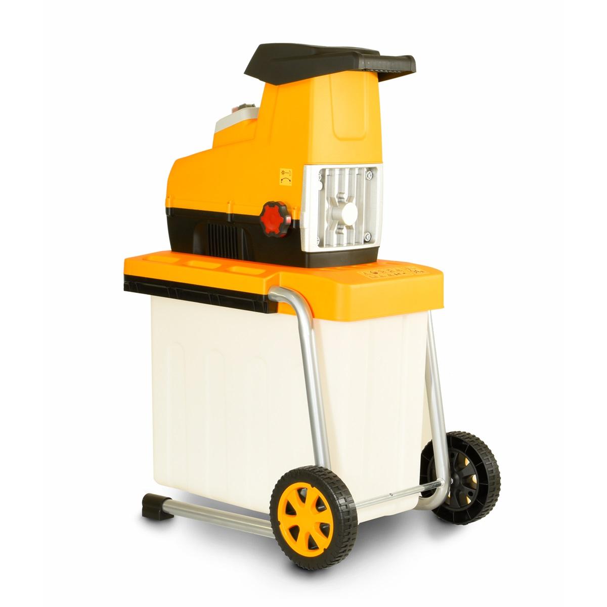 Riwall PRO RES 2844 B, válcový drvič s transparentním  boxom a elektrickým motorom 2800 W