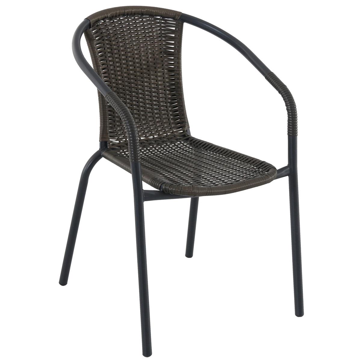 Creador Pikolo, kovová stohovatelná židle s ratanem