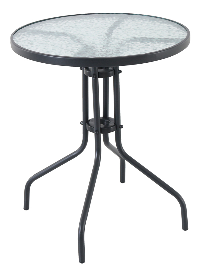 Creador Pikolo Round, kovový stůl se skleněnou deskou