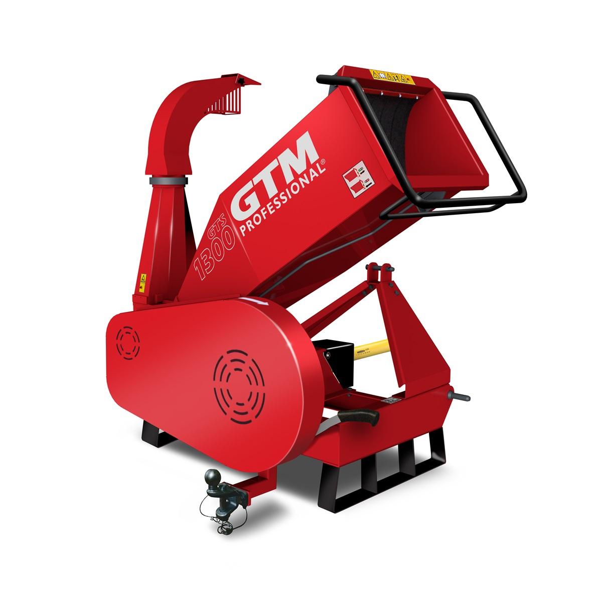 GTM GTS 1300 PTO, drtič dřeva s pohonem na hřídel