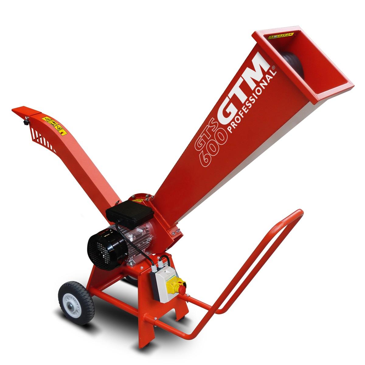 GTM GTS 600 E, drtič dřeva s elektrickým motorem