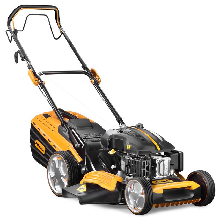Riwall PRO RPM 4835 Pro, multifunkčna trávna kosačka 4 v 1 s benzínovým motorom a pojazdom