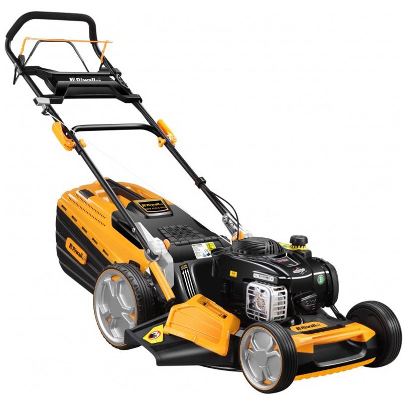 Riwall PRO RPM 4830 B Pro, multifunkčna trávna kosačka 4 v 1 s benzínovým motorom a pojazdom