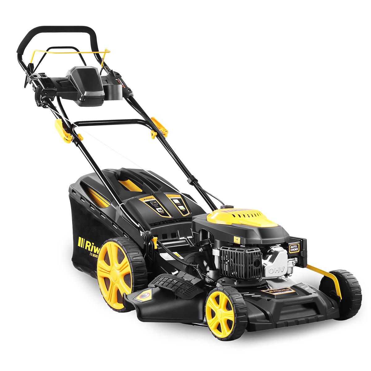 Riwall PRO RPM 5135 E, multifunkčna trávna kosačka 4 v 1 s pojazdom a elektroštartom