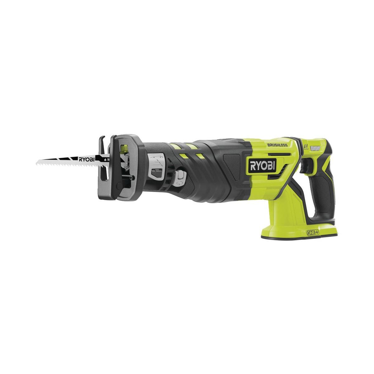 Ryobi R18RS7-0, aku 18 V bezuhlíková šavlová pila ONE+(bez baterie a nabíječky)