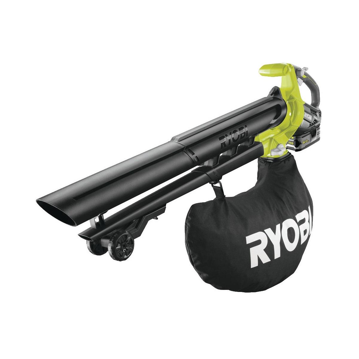 Ryobi RBV1850, aku 18V bezuhlíkový foukač/vysavač + 1x 5Ah baterie + nabíječka ONE+