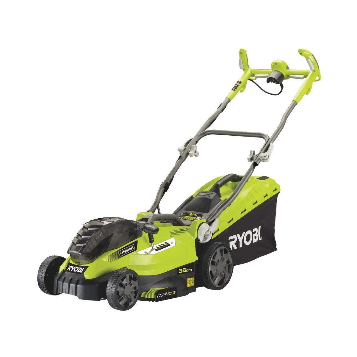 Ryobi RLM18C36H225, hybridná trávna kosačka s elektrickým motorom