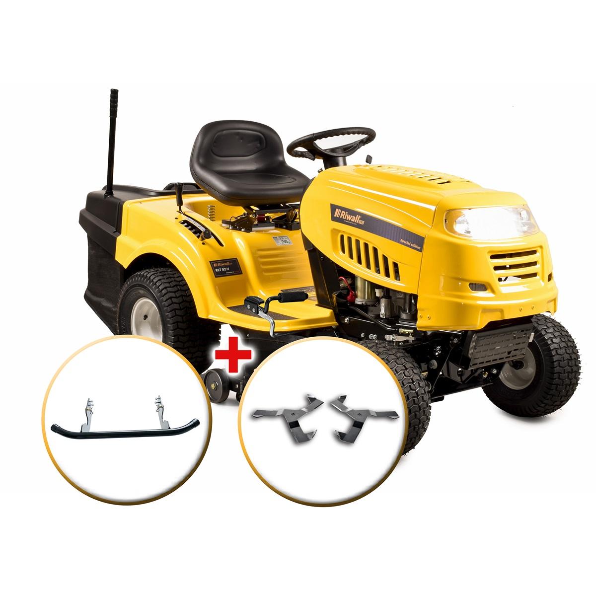 Riwall PRO RLT 92 H POWER KIT, travní traktor se zadním výhozem a hydrostatickou převodovkou + nárazník