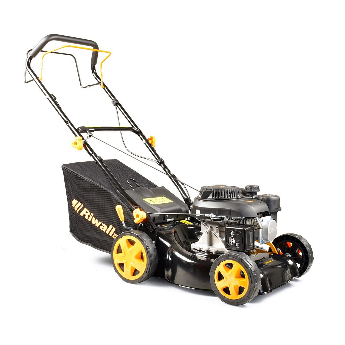 Riwall PRO RPM 4234, multifunkčna trávna kosačka 2 v 1 s benzínovým motorom