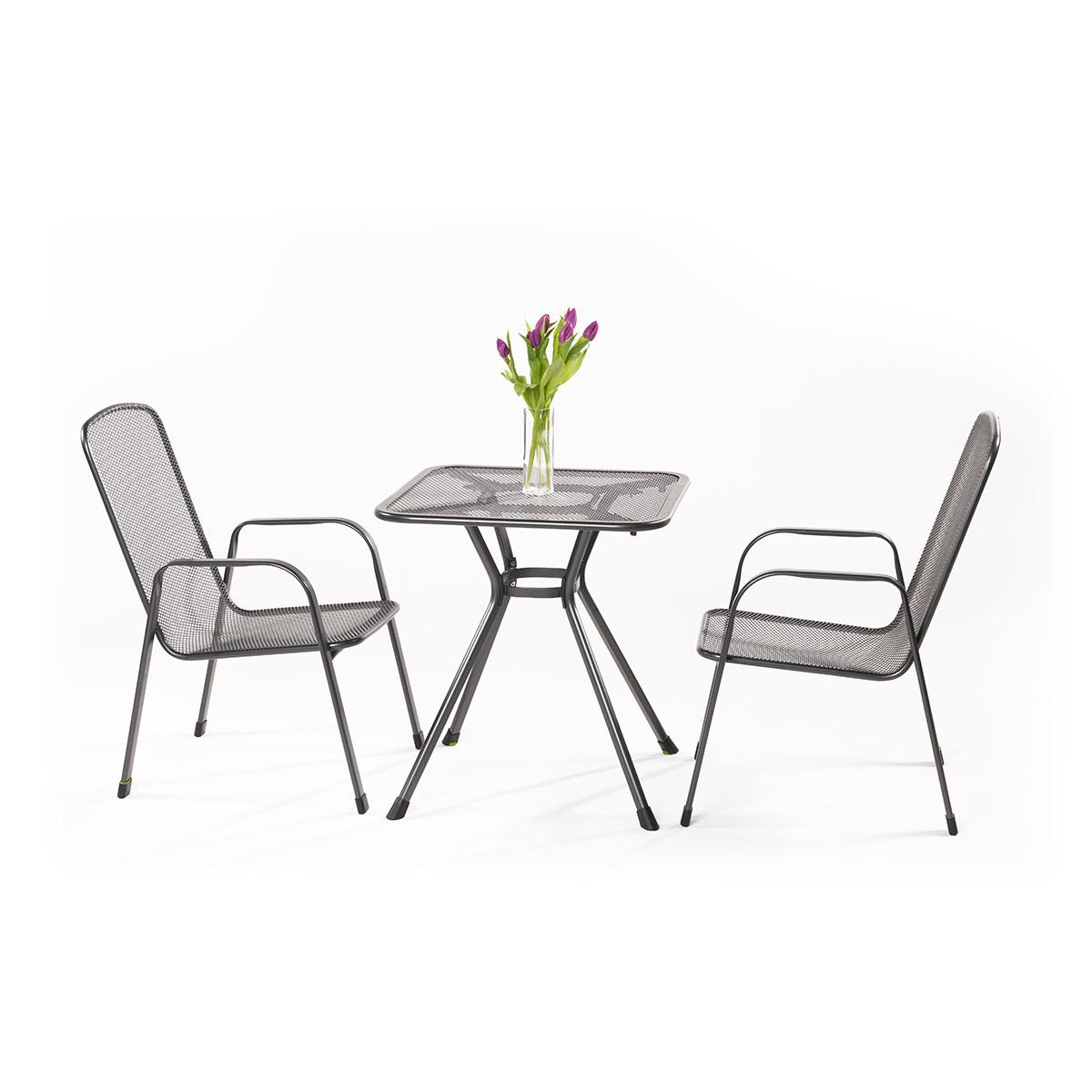 MWH Sabi 2+, sestava nábytku z tahokovu (2x židle Savoy Basic, 1x stůl Tavio 70)