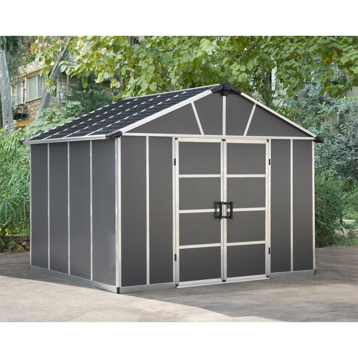 Palram Yukon 11' x 9' antracit, záhradný domček