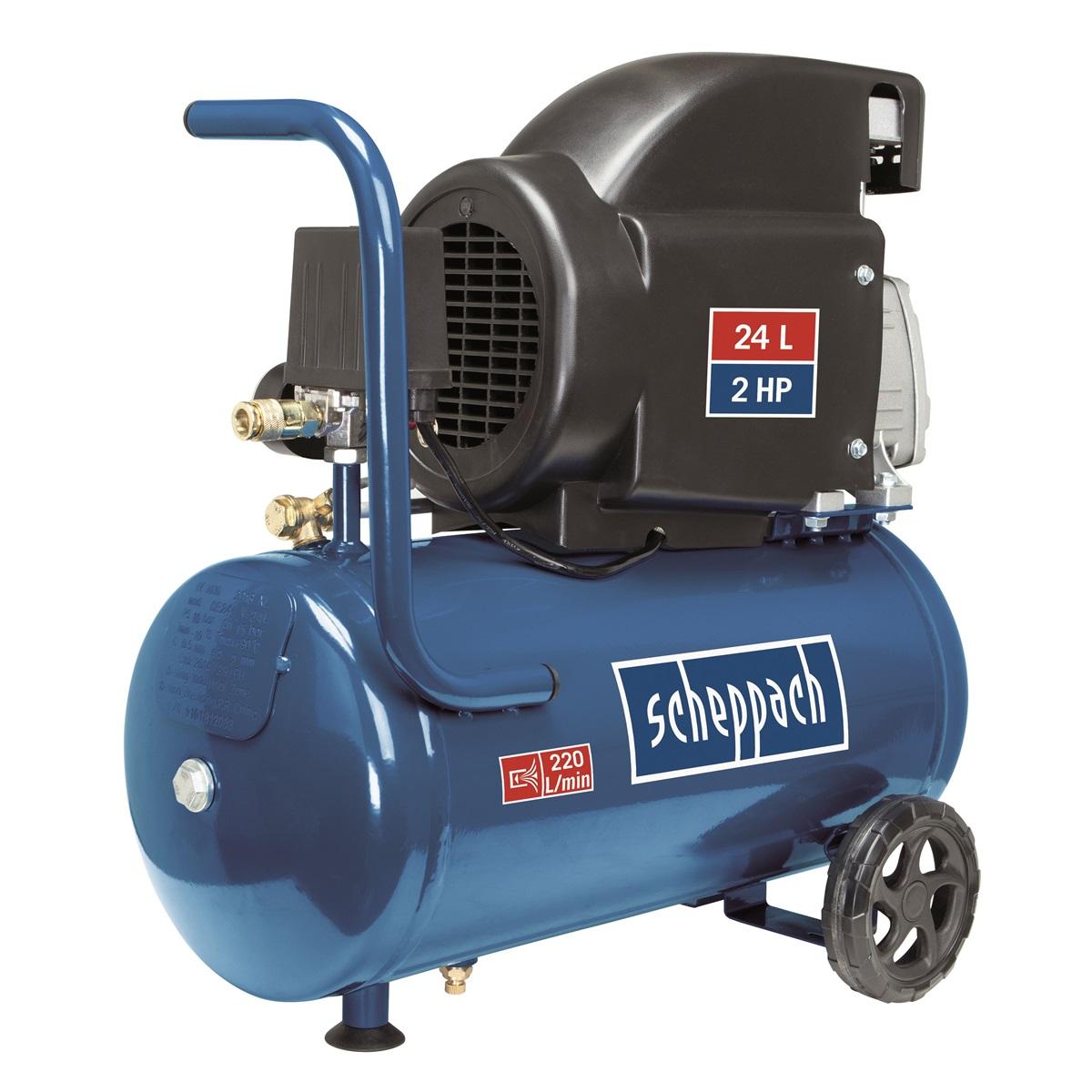 Scheppach HC 26, olajový kompresor 24 l