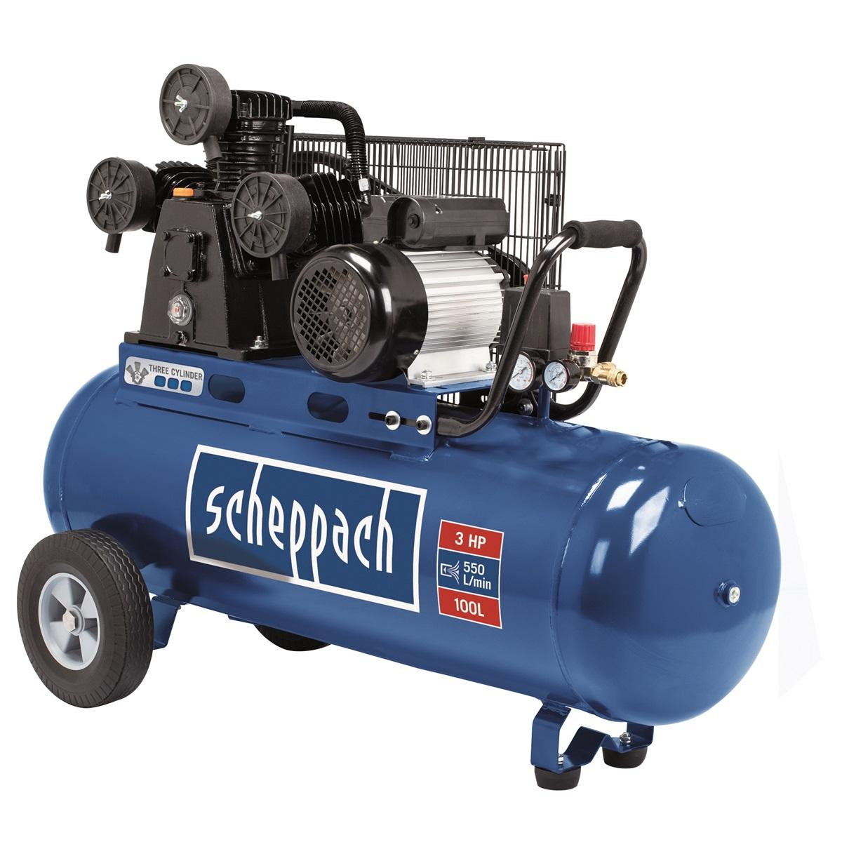 Scheppach HC 550 tc, trojpiestny olejový kompresor 100 l
