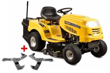 Riwall PRO RLT 92 T POWER KIT, travní traktor se zadním výhozem a 6-ti stupňovou převodovkou Transmatic + nárazník